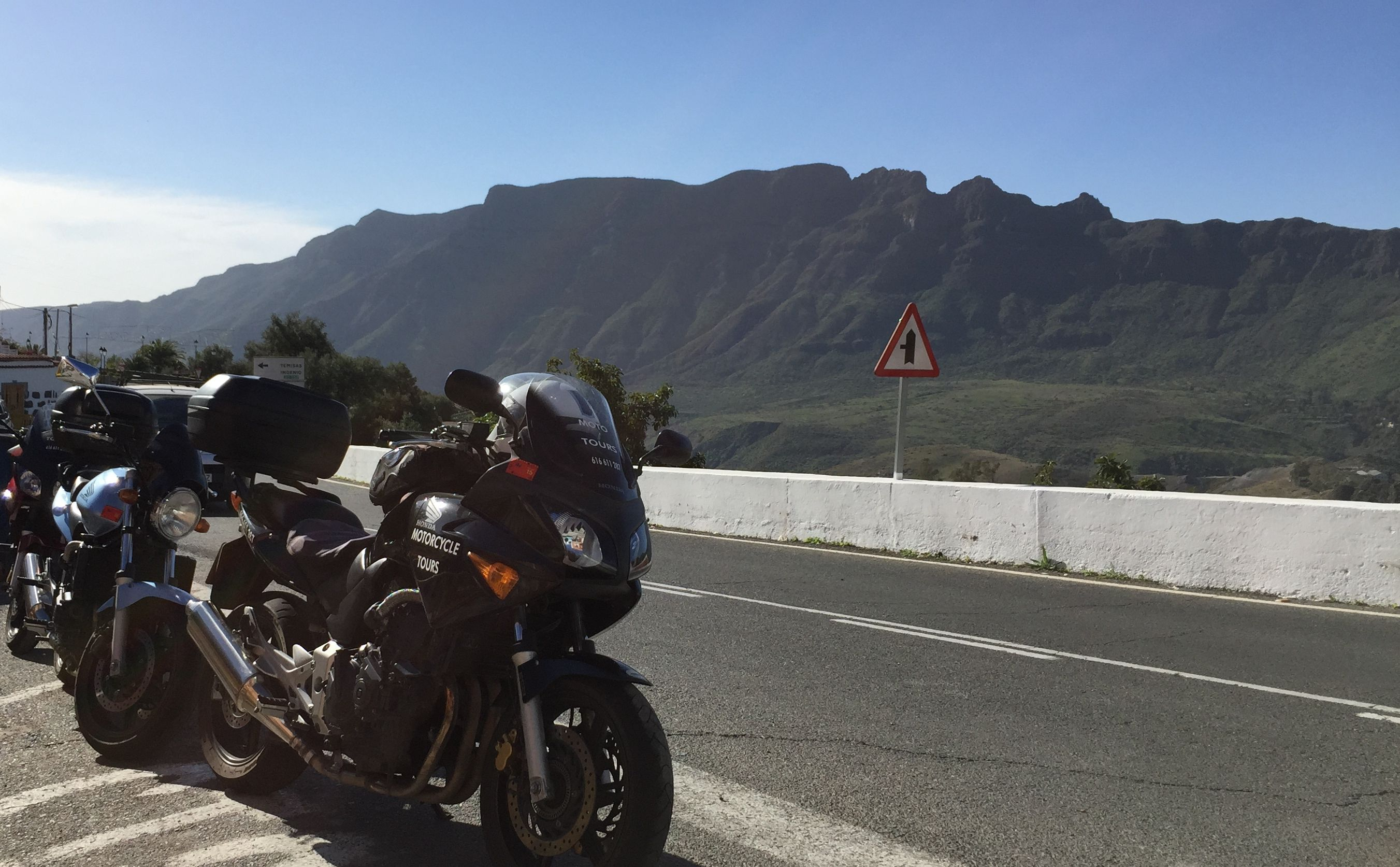 Various bikes, ideal for this terrain, light agile but powerful enough for the mountain